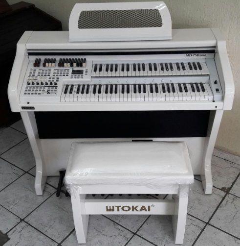 Órgão Eletrônico Tokai MD 750 Gold Branco Alto Brilho