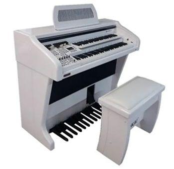 Órgão Eletrônico Tokai MD 750 Gold Branco Alto Brilho  - Teclasom Instrumentos Musicais Ltda