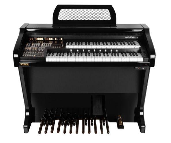 Órgão Eletrônico Tokai MD 750 Gold Preto Alto Brilho