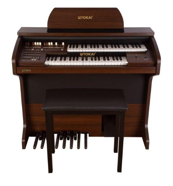 Órgão Eletrônico Tokai MD 7 Cor Castanho  - Teclasom Instrumentos Musicais Ltda