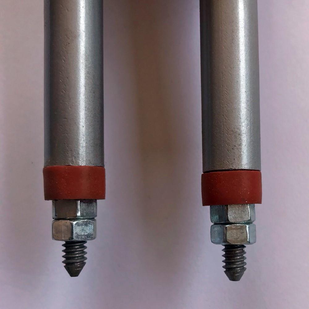 Kit com 3 Peças Resistência Elétrica Aletada Suzuki Estufa 500mm 2kw 220v