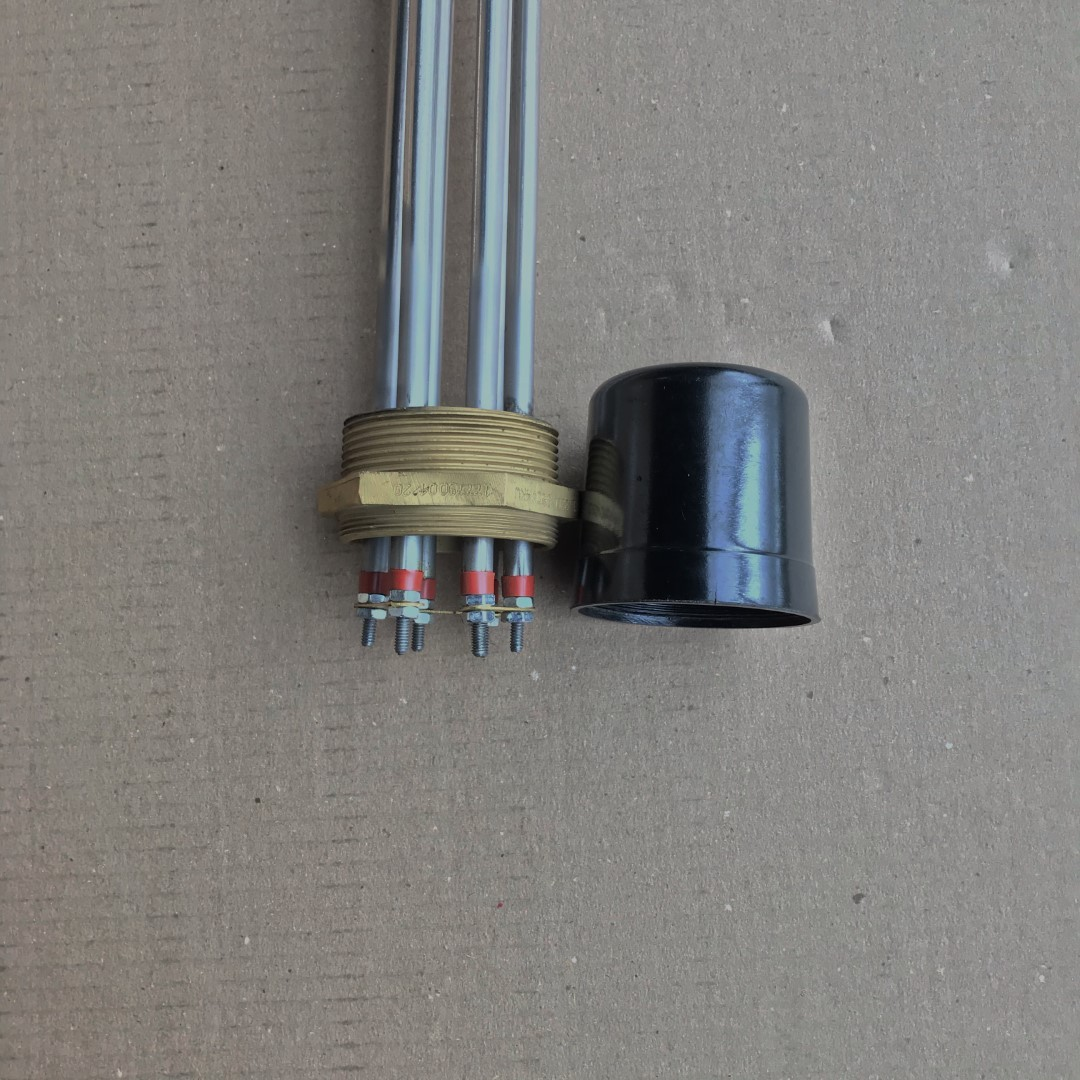 """Resistencia Aquecimento de Agua Rosca 2"""" 3 Elementos 880mm 4KW"""