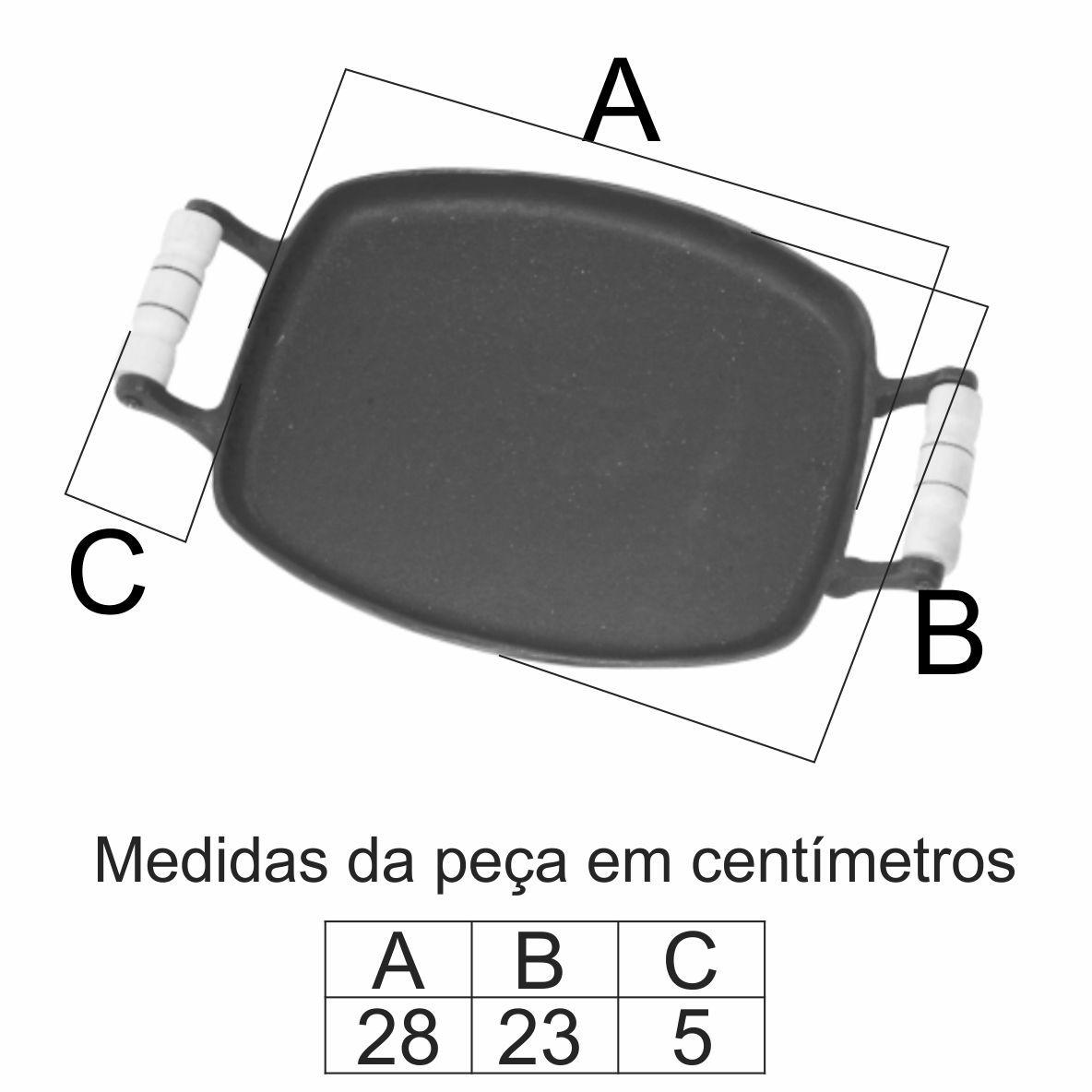 Chapa Bifeira Porquinho 23X28Cm Em Ff - FUNDIÇÃO VESUVIO