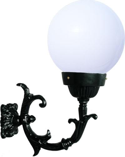 Luminária Com Braço Globo Grande - FUNDIÇÃO VESUVIO