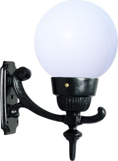 Luminária Com Braço Globo Pequeno III - FUNDIÇÃO VESUVIO