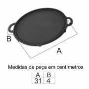 Chapa Bifeira Gengiskan 31Cm Em Ff  - FUNDIÇÃO VESUVIO