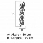 Grade Flor Lírio Inclinada  - FUNDIÇÃO VESUVIO