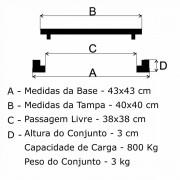 Tampão 40X40Cm Simples Em Af  - FUNDIÇÃO VESUVIO