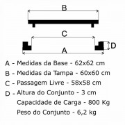 Tampão 60X60Cm Articulado P/C Em Af  - FUNDIÇÃO VESUVIO