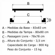 Tampão 80X80Cm Articulado P/C Em Af  - FUNDIÇÃO VESUVIO