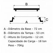Tampão Sudecap (53Cm) Em Ff  - FUNDIÇÃO VESUVIO