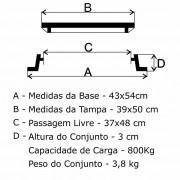 Tampão T-27 Simples (39X50Cm) Em Af  - FUNDIÇÃO VESUVIO