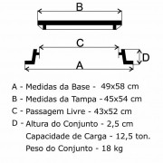 Tampão T-33 Articulado (45X54Cm) Em Af  - FUNDIÇÃO VESUVIO