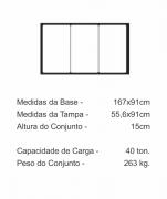 Tampão Três Seções Ou Três Tampas Cl400 (167X91Cm) Em Ffn  - FUNDIÇÃO VESUVIO