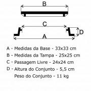 Tampão T-19 Articulado Para Hidrante (25X25Cm) Em Ff  - FUNDIÇÃO VESUVIO