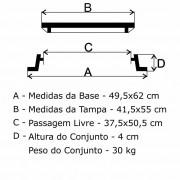 Tampão T30 Articulado Para Água (41,5X55Cm) Em Ffn  - FUNDIÇÃO VESUVIO