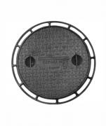 Tampão P139 Simples Cl300 (59Cm) Para Poço De Visita Com Corrente Em Ffn  - FUNDIÇÃO VESUVIO