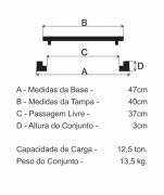 Tampão Dn400 Articulado Cl125 (40Cm) Esgoto Rj Em Ffn  - FUNDIÇÃO VESUVIO