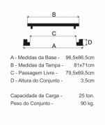 Tampão Zcg Cl250 (81X71Cm) Pista De Rolamento Em Ffn  - FUNDIÇÃO VESUVIO