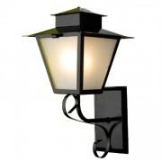 Luminária Colonial Quadrado Com Chapéu 01
