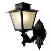 Luminária Colonial Quadrado Com Chapéu 04