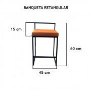 Banqueta Retangular  - FUNDIÇÃO VESUVIO