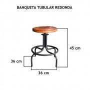 Banqueta Tubular Redonda  - FUNDIÇÃO VESUVIO