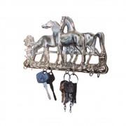 Cavalinho Porta Chave 3 Em Bronze