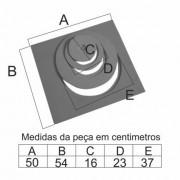 Chapa Para Fogão 1 Furo Com Redução (54X50Cm)  - FUNDIÇÃO VESUVIO