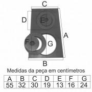 Chapa Para Fogão 2 Furos Com Redução (55X30X32Cm)  - FUNDIÇÃO VESUVIO