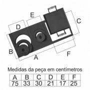 Chapa Para Fogão 3 Furos Multiuso Com Tampa (75X33X30Cm)  - FUNDIÇÃO VESUVIO