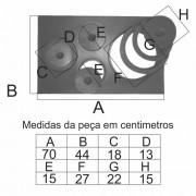 Chapa Para Fogão 4 Furos Paraná Completa (70X44Cm)  - FUNDIÇÃO VESUVIO