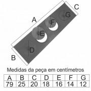 Chapa Para Fogão 4 Furos Paulista Com Tampa (79X25X20Cm)  - FUNDIÇÃO VESUVIO
