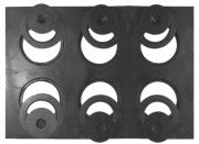Chapa Para Fogão Para Restaurante 6 Furos Com Redução Reta Completa (102X72Cm)