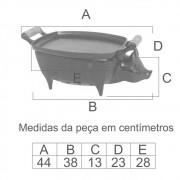 Churrasqueira Porquinho Com Chapa  - FUNDIÇÃO VESUVIO