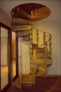 """Escada Caracol, Diâmetro de 1,60 mts e Patamar Redondo - """"PREÇO POR METRO DE ALTURA"""""""