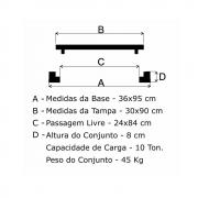 Grelha Boca De Lobo Articulada Leve (30X90Cm) Em Ff  - FUNDIÇÃO VESUVIO