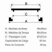 Grelha Boca De Lobo Gr-90 Articulada Pesada (30X90Cm) Em Ffn  - FUNDIÇÃO VESUVIO