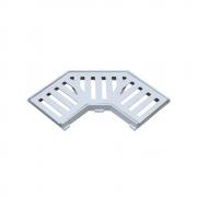 Grelha Curva Com Caixilho Em Alumínio Fundido