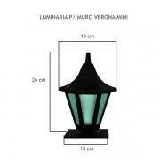 Luminária Para Muro Verona Mini  - FUNDIÇÃO VESUVIO