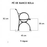 Par Pé De Banco Bola 9 Réguas  - FUNDIÇÃO VESUVIO