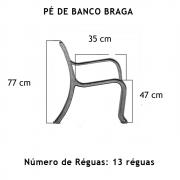 Par Pé De Banco Braga 13 Réguas  - FUNDIÇÃO VESUVIO