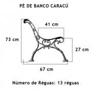 Par Pé De Banco Caracú 13 Réguas  - FUNDIÇÃO VESUVIO