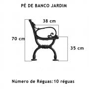 Par Pé De Banco Colonial Ou Jardim 10 Réguas  - FUNDIÇÃO VESUVIO