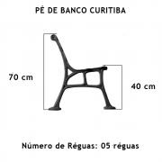 Par Pé De Banco Curitiba (Praça) 5 Réguas  - FUNDIÇÃO VESUVIO