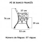 Par Pé De Banco Francês  7 Réguas  - FUNDIÇÃO VESUVIO