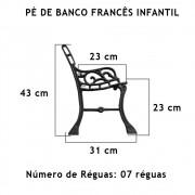 Par Pé De Banco Francês Infantil 7 Réguas  - FUNDIÇÃO VESUVIO
