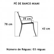 Par Pé De Banco Miami  03 Réguas  - FUNDIÇÃO VESUVIO