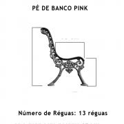 Par Pé De Banco Pink 13 Réguas  - FUNDIÇÃO VESUVIO