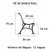 Par Pé De Banco Raiz 12 Réguas  - FUNDIÇÃO VESUVIO